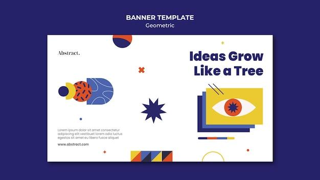 Modelo de banner de conceito de ideias criativas