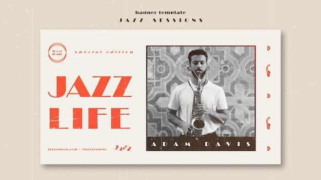 Modelo de banner de conceito de jazz