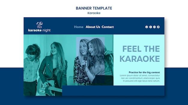 Modelo de banner de conceito de karaokê