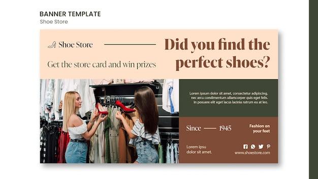 Modelo de banner de conceito de loja de calçados