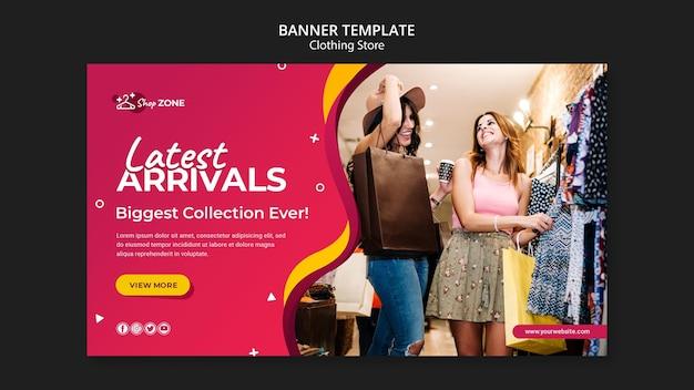 Modelo de banner de conceito de loja de roupas