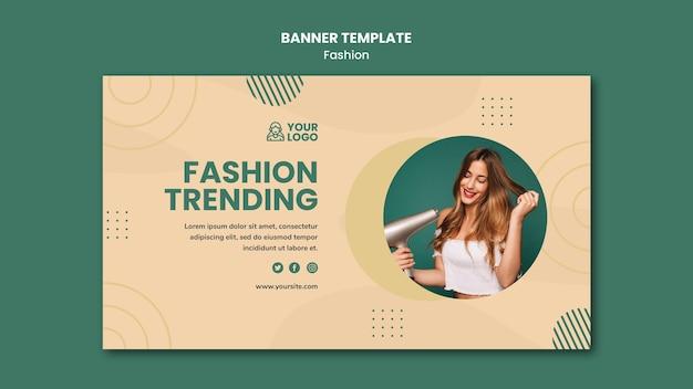 Modelo de banner de conceito de moda