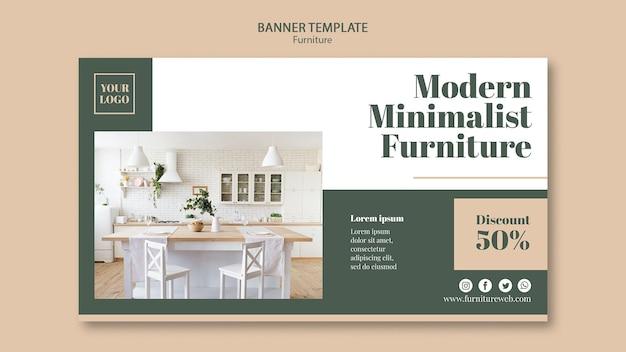 Modelo de banner de conceito de móveis