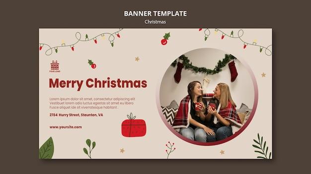 Modelo de banner de conceito de natal Psd Premium