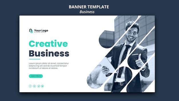 Modelo de banner de conceito de negócio