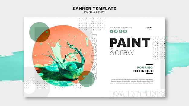 Modelo de banner de conceito de pintura