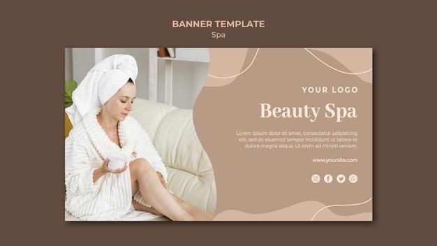 Modelo de banner de conceito de spa