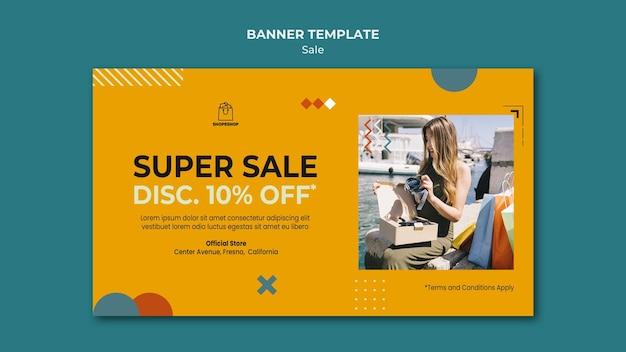 Modelo de banner de conceito de venda
