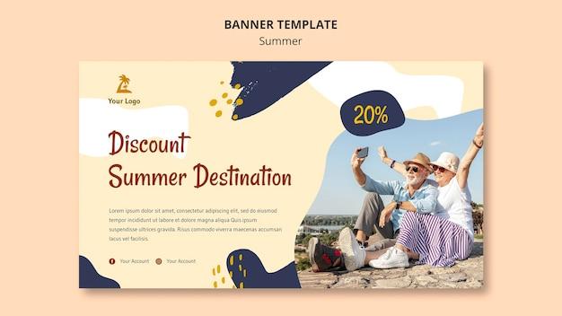 Modelo de banner de conceito de verão Psd grátis