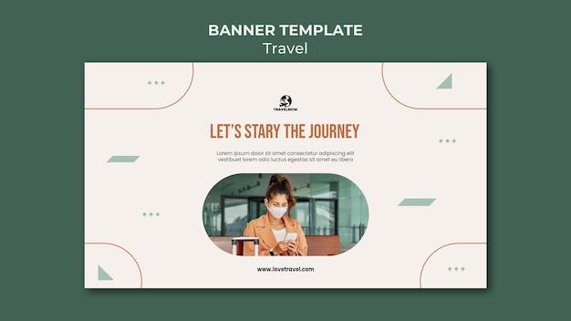 Modelo de banner de conceito de viagem