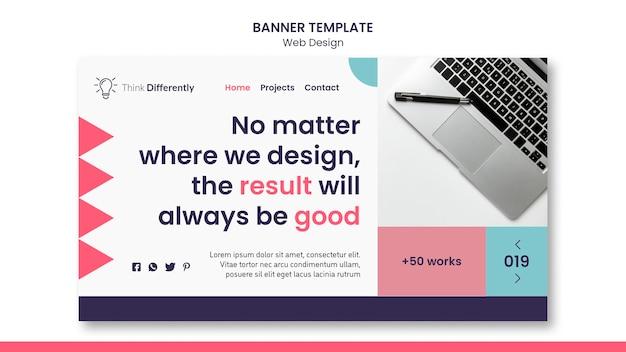 Modelo de banner de conceito de web design