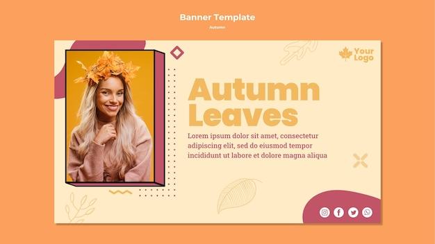 Modelo de banner de conceito outono