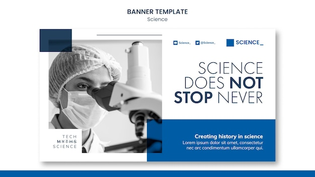 Modelo de banner de conferência científica