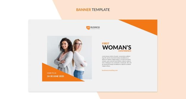 Modelo de banner de conferência de mulheres