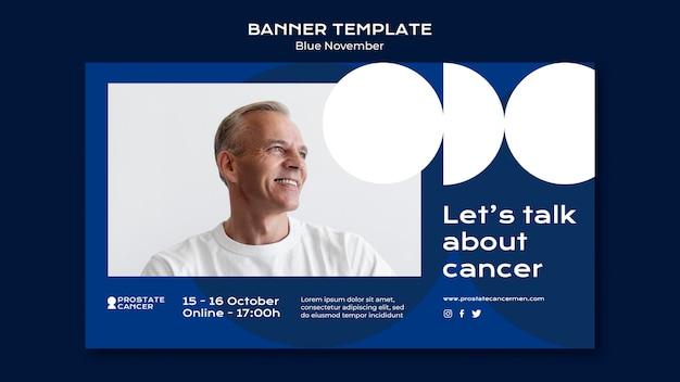 Modelo de banner de conscientização sobre câncer de próstata