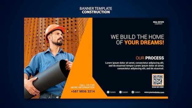 Modelo de banner de construção