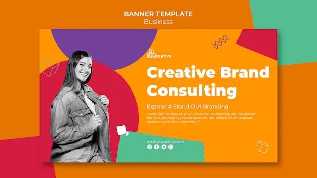 Modelo de banner de consultoria de marca