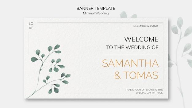Modelo de banner de convite de casamento