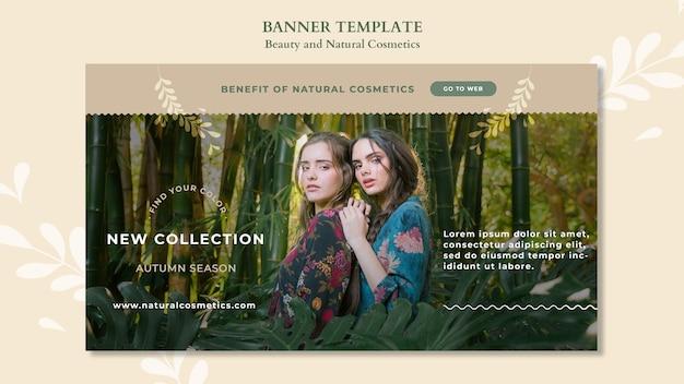 Modelo de banner de cosméticos naturais