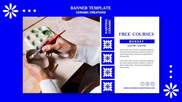 Modelo de banner de criações de cerâmica
