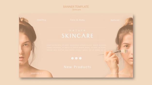 Modelo de banner de cuidados com a pele