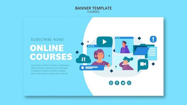 Modelo de banner de cursos online