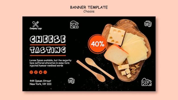 Modelo de banner de degustação de queijo