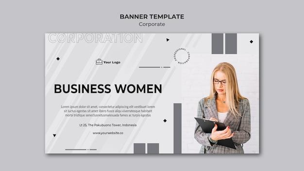 Modelo de banner de design corporativo