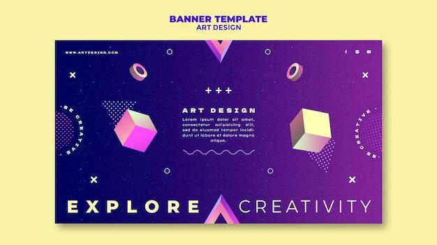 Modelo de banner de design de arte