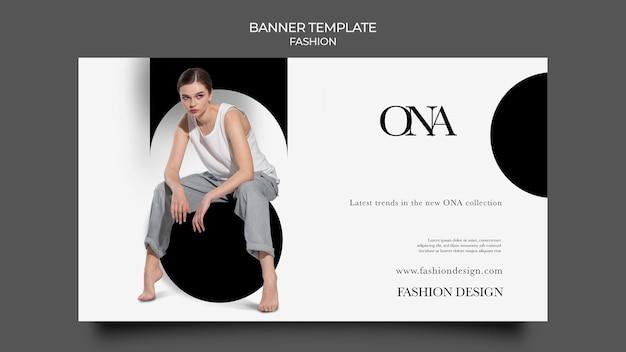Modelo de banner de design de moda
