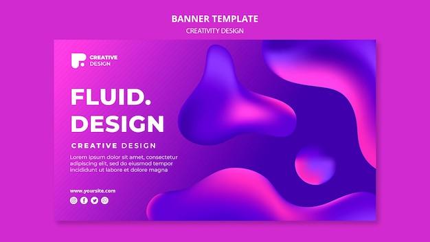 Modelo de banner de design fluido