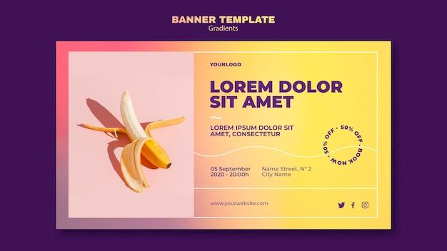 Modelo de banner de design gradiente
