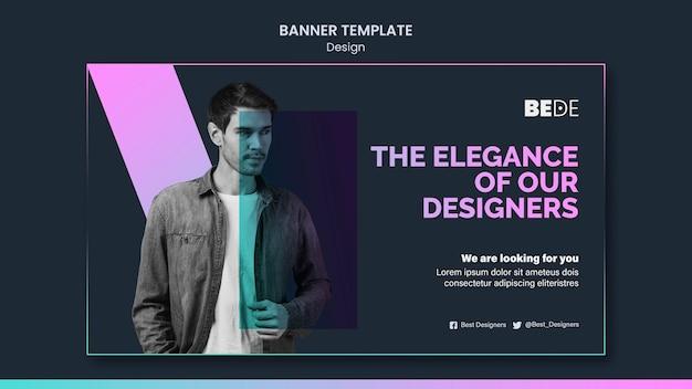 Modelo de banner de design