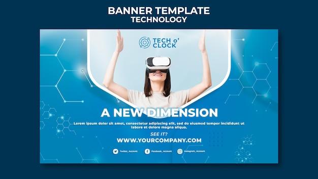 Modelo de banner de dispositivo de realidade virtual