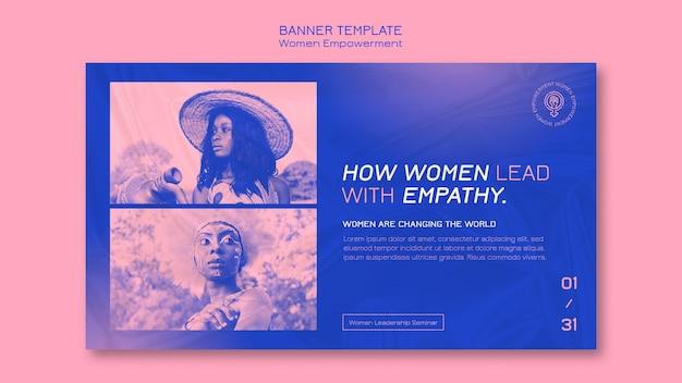 Modelo de banner de empoderamento feminino