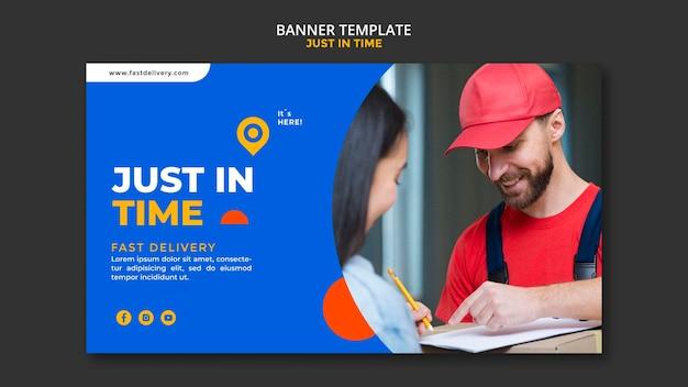 Modelo de banner de empresa de entrega