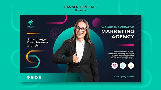Modelo de banner de empresa de negócios