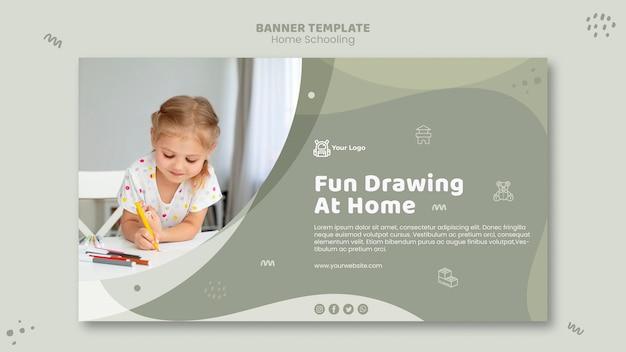 Modelo de banner de ensino doméstico