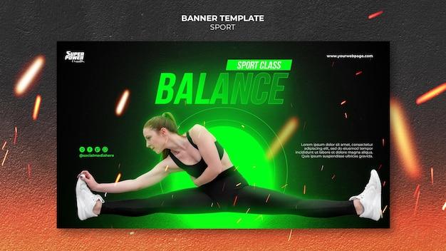 Modelo de banner de equilíbrio esportivo