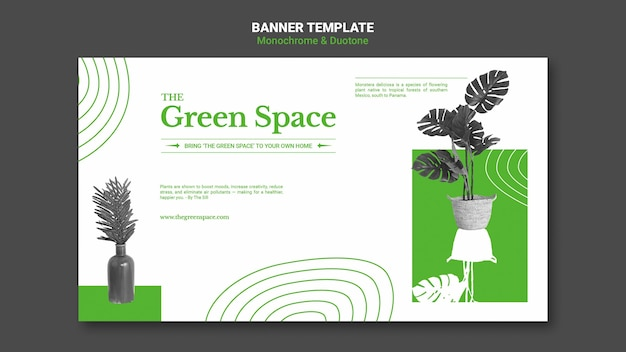 Modelo de banner de espaço verde