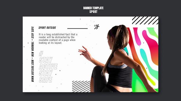 Modelo de banner de estilo de vida ativo