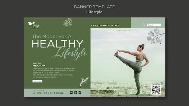 Modelo de banner de estilo de vida saudável