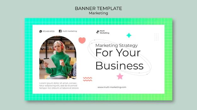Modelo de banner de estratégia de marketing