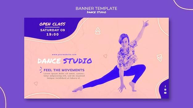 Modelo de banner de estúdio de dança