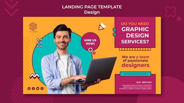 Modelo de banner de estúdio de design