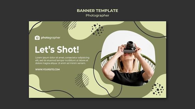 Modelo de banner de estúdio de fotógrafo
