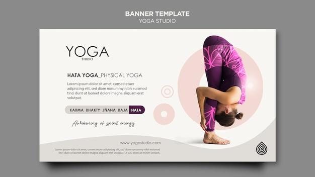 Modelo de banner de estúdio de ioga