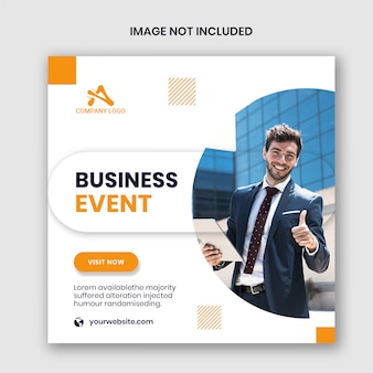 Modelo de banner de evento corporativo quadrado instagram