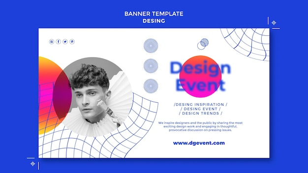 Modelo de banner de evento de design
