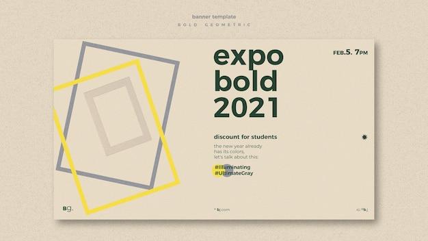 Modelo de banner de evento de exposição